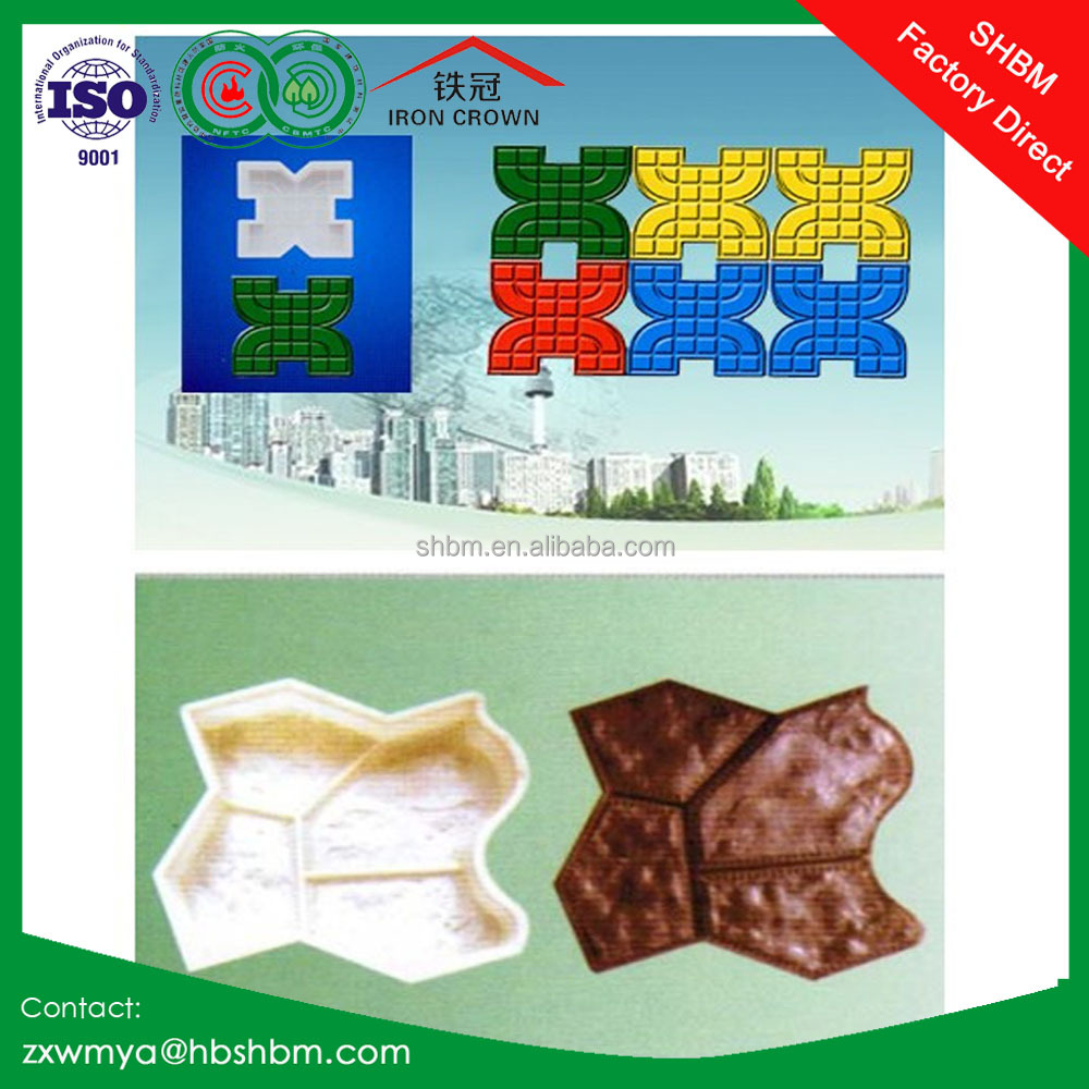 plastic paving walking moulds, mould of colorful garden floor slab stone concrete brick and tiles walking way