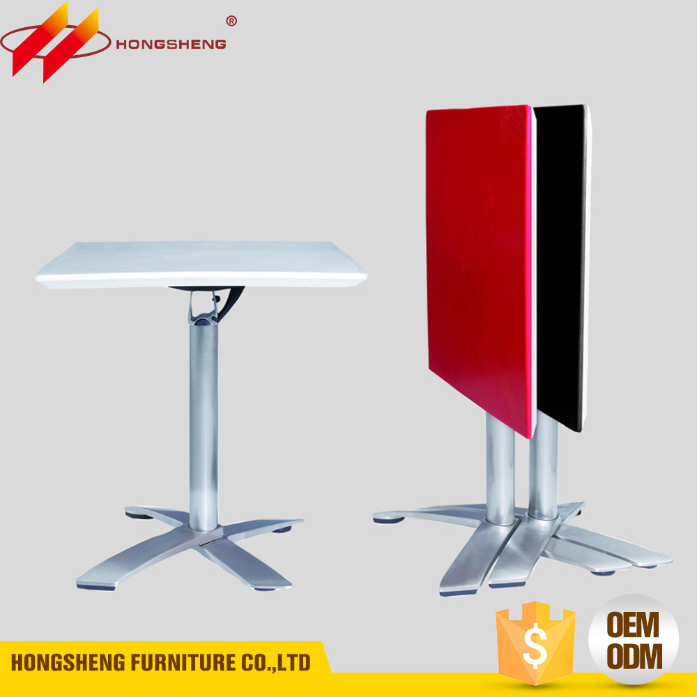 square custom small folding plastic table with ABS plastic top