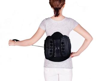 adjustable double pull waist support lumbar back brace