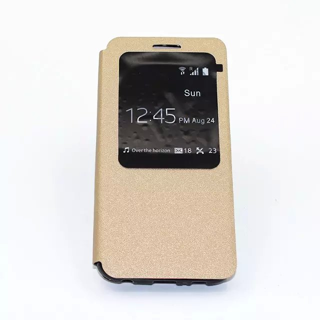 Customized Wallet golden beach Flip Cover Stand with Card Holder Case Cover for Samsung Galaxy GX2 G VISTA VS880