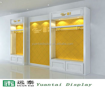 Luxury Wooden Wall Mount Display Cabinet Furniture Designs Garments Decoration