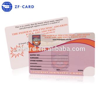 plastic pvc student id card maker buy student id card id card