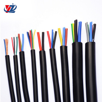Customizable Silicone Wire 14 18 20 22 24 AWG flexible copper cable wire 2 4 6 8 core cable price for