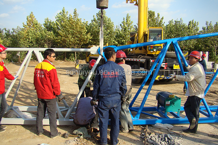 2017 new luffing crane 45m jib Working range workshop slewing jib crane in Iran and Dubai and Saudi Emirates