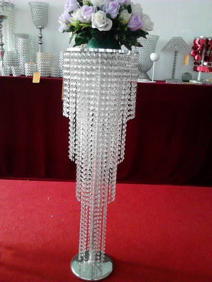 Crystal beads table centerpiece flower stands in wedding stage crystal beads table centerpiece flower stands in wedding stage decoration junglespirit Images