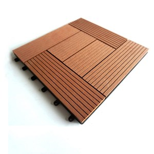 Outdoor WPC decking floor/wpc interlocking decking tiles/waterproof interlocking composite decking