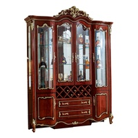 luxury antique Modern Living room dining room furniture 4 doors side wine cabinet
