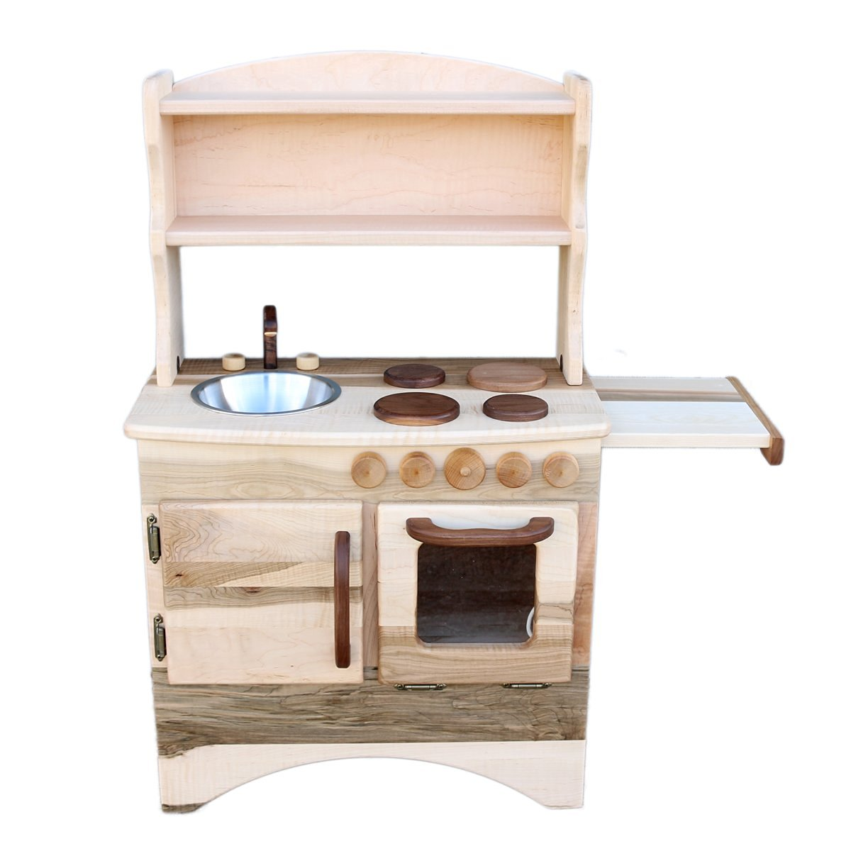 Buy Camden Rose Simple Table Top Play Kitchen, Cherry w/Walnut ...