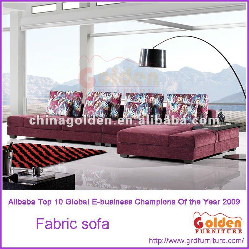 Alibaba em-834 woonkamer stof chaise lounge bank-woonkamer sofa ...
