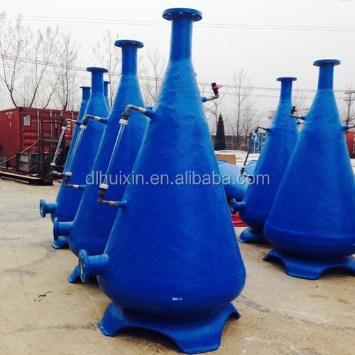 Fish farm oxygen cone with water inspection for Recirculating Aquaculture Systems