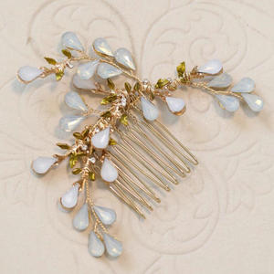 Bridal Hair Accessories Vintage Roman Style Opal Crystal Hair Comb Hair Jewelry Wholesale