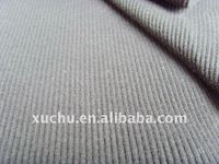 shirt fabric 2x2 rib cotton spandex Knitted Fabric