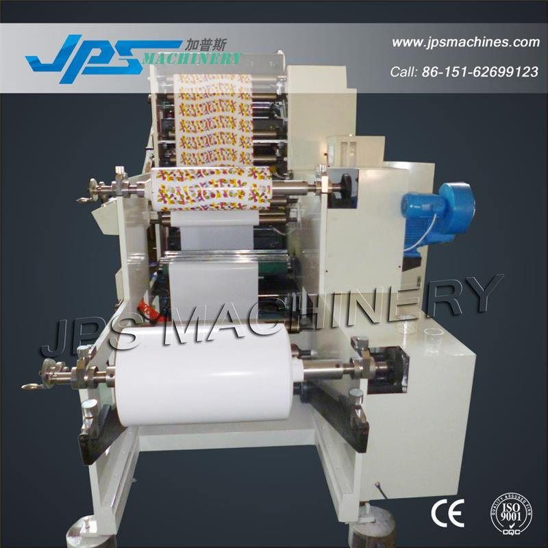 JPS850-4C 850mm Width Four Colour Roll to Roll Chrome Paper Flexo Printing Machine