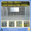 Folding Steel Wire Mesh cage / Storage Stacking Cage / Containe cage