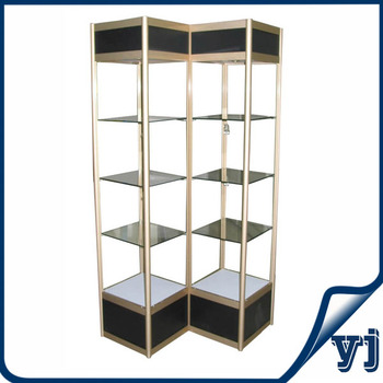 Aluminium Frame Tempered Glass Cabinets For Trophies Display With  Adjustable Glass Shelves/promotion Counter Glass