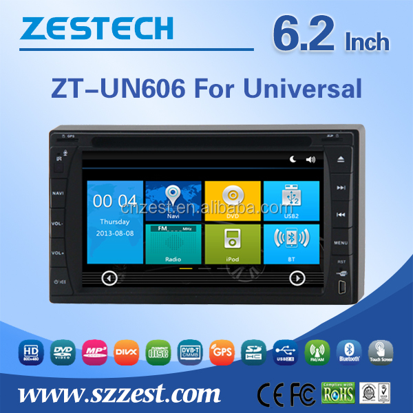 6.2'' in dash double din car audio gps dvd universal with phonebook/usb/mp3,mp4/swc/rds/bluetooth/sd card