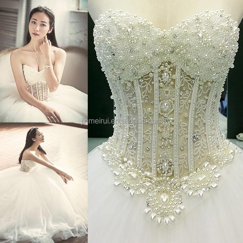 Real Photo Ball Gown Wedding Dress Vestidos De Noiva Sweetheart ...