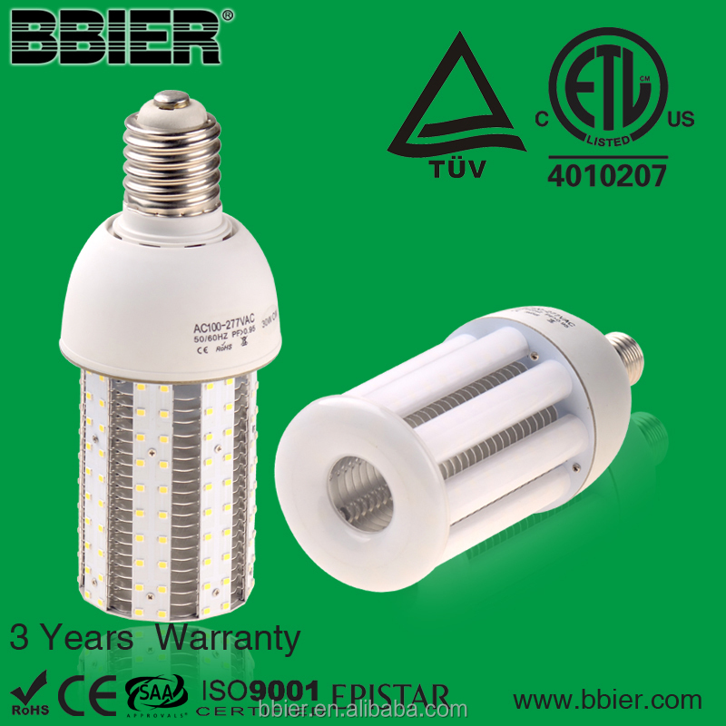 Energy saving in shenzhen bao an led corn bulb 30w contractors 6700k 4000k