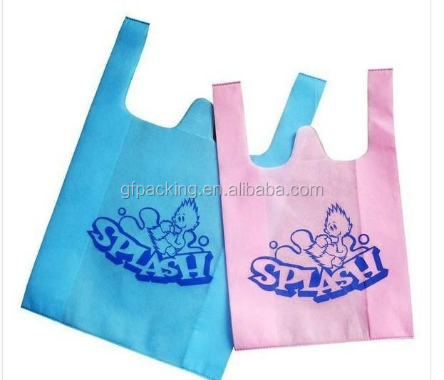 Biodegradable  non woven t shirt shopping bag making by machine