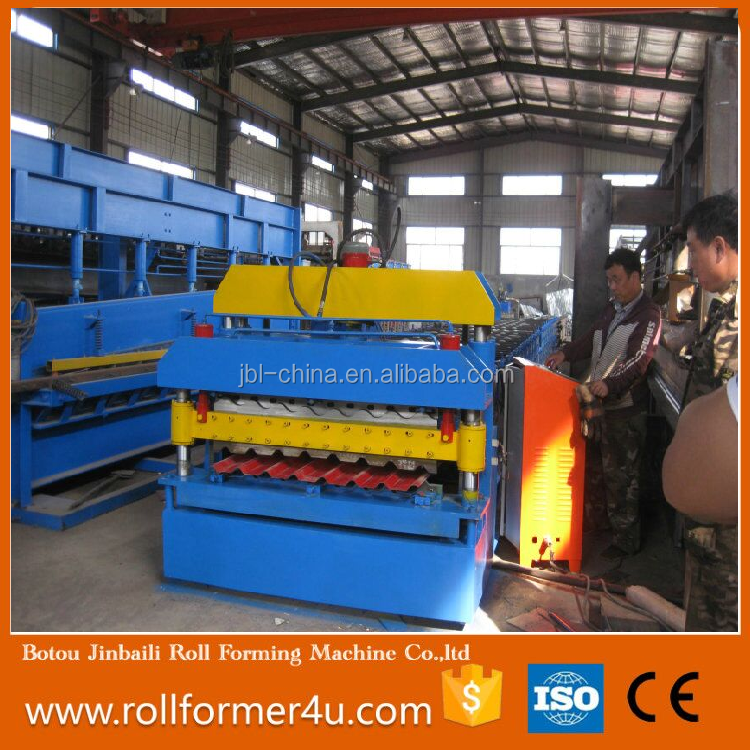 Top quality Double layer Glazed corrugated and trapezoidal roll forming machine