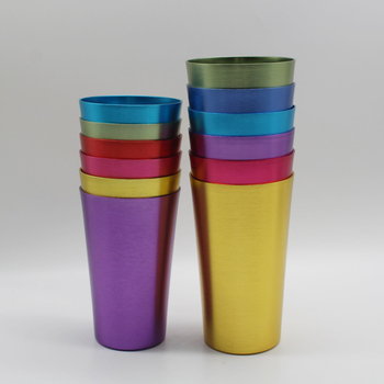 6-Piece Assorted Harvest Aluminum Tumbler Set,Colorful Anodized Aluminum Tumblers,Set of 6 Aluminum Shot Glasses Beer Mug