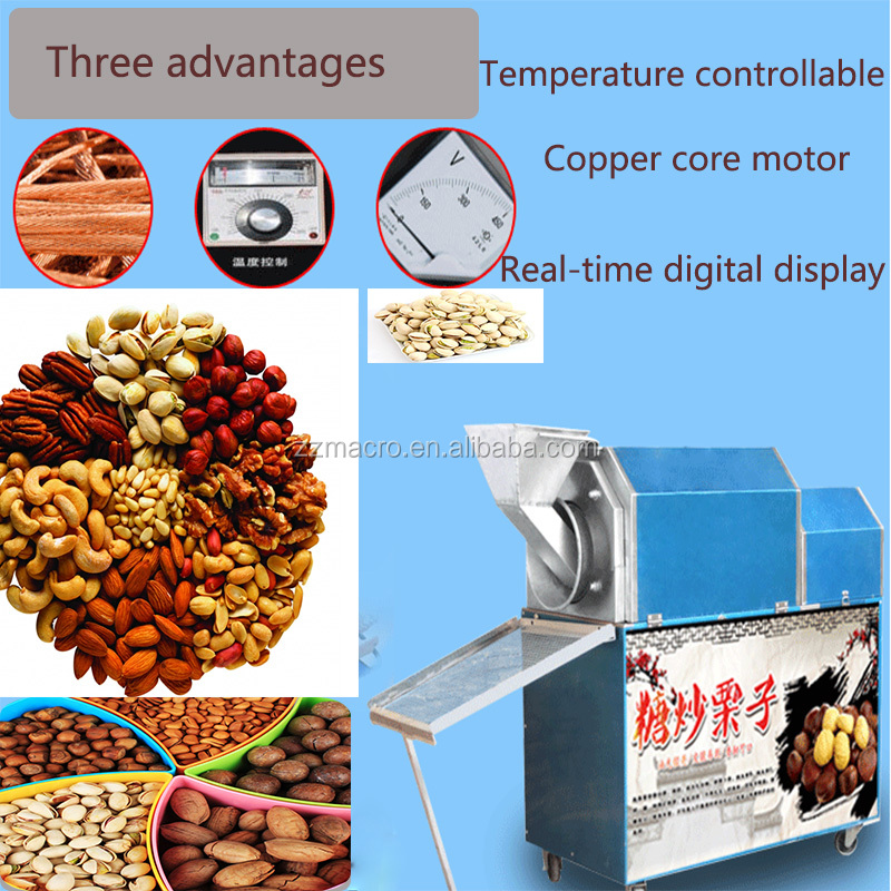 Golden supplier 5-15kg/h peanut roaster machine small nut roasting machine with quality assurance