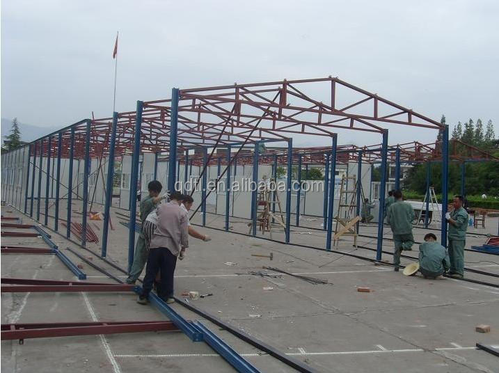 low cost steel structure prefab garage