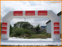 PVC advertising inflatable angle race arch for event