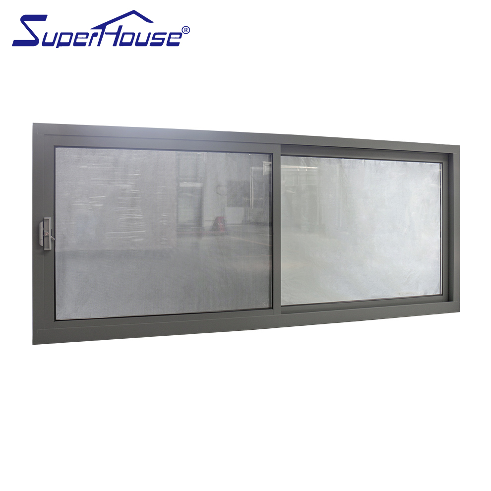 China supplier latest sliding window design aluminum framed tempered glass sliding window