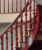 Customized stairs arc stairs red oak wood stairs