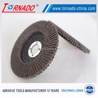 "Tornado 7""X7/8"" grit 40# plastic cover abrasive flap disc for wood and metal polishing"