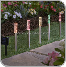 5 color changing Outdoor solar acrylic bubble stick stake string lights for patio (JL-7801A)