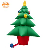 2018 New Arrivals Outdoor PVC Inflatable Christmas Tree Led Decoration, Christmas Tree For Party