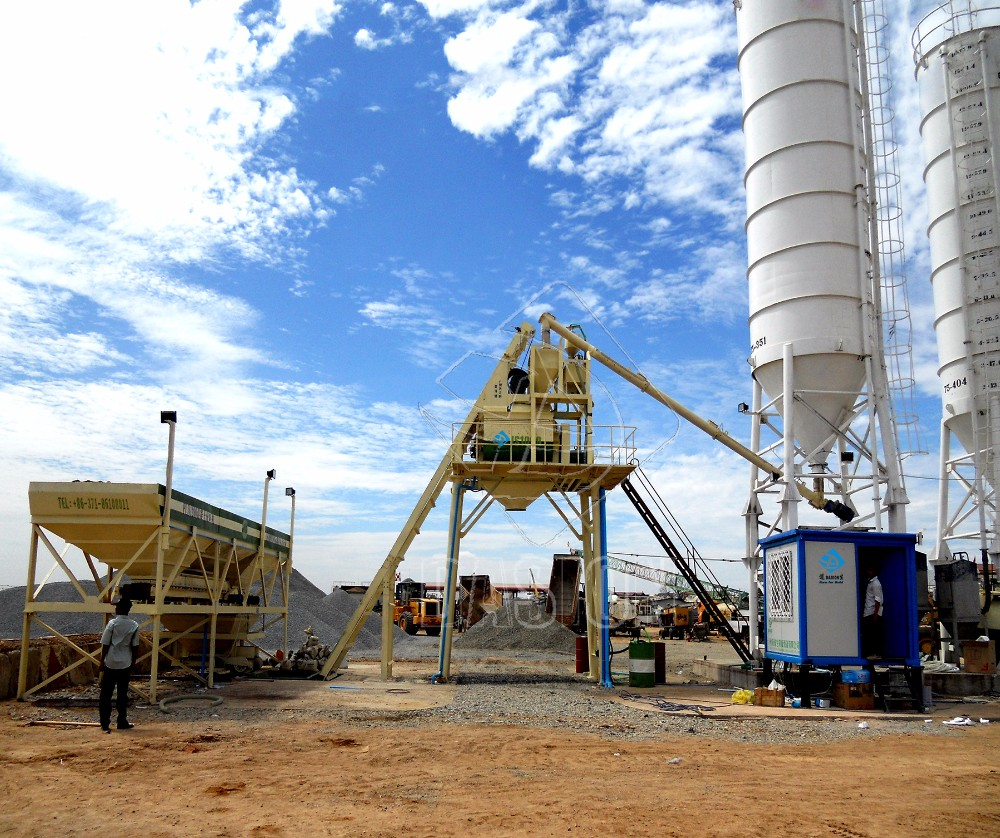 Cement Loading Plant : Large capacity self loading concrete batching plant