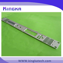 custom aluminum panel parts , faceplate with natural anodize for e-door system