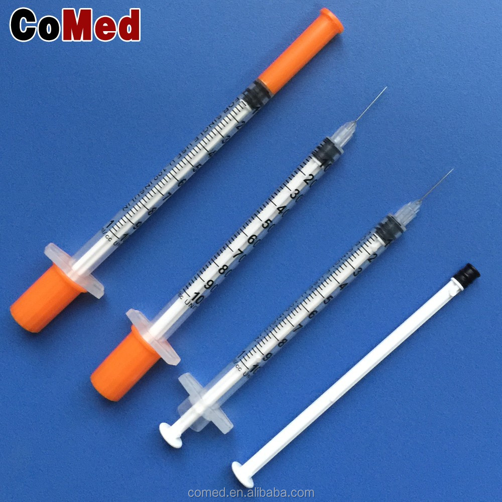Disposable sterile unibody insulin syringe 0.5ml 1ml