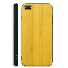 anti-shock mobile wood bamboo phone back cover for apple iphone 8 plus case