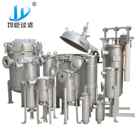 304 Stainless Steel Liquid Multi Bag Filter Housing
