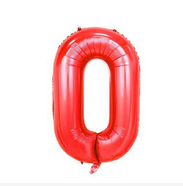 32 inch red aluminum foil helium balloon,big large black number balloons for party,birthday digital decoration