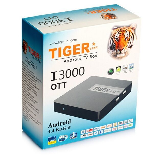 Tiger Satellitenempfänger I3000 OTT Android TV Box Herunterladen Hindi Video HD Songs
