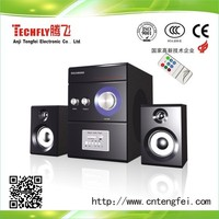 multimedia speaker 2.1 channel with USB/SD/FM/REMOTE function for computer/phone/dvd/vcd use
