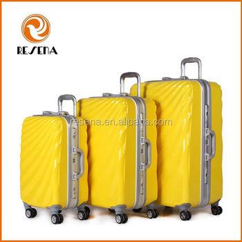 Aluminum frame cute girls cheap hard shell luggage set 20