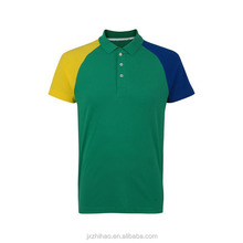 china clothes t-shirt with green collar fashion cut tee shirt polo for men