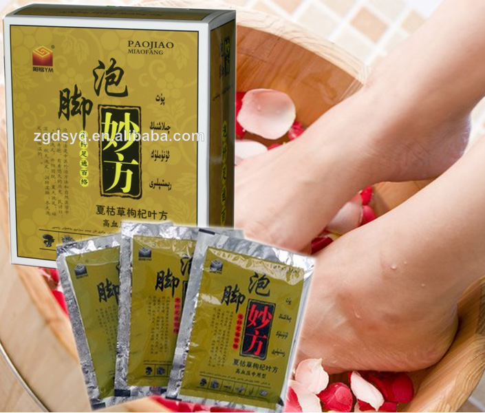 Professional foot bath powder using Chinese troditional herbs Specialized for Hypertension