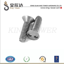 countersunk pig nose security machine screw (with ISO card)
