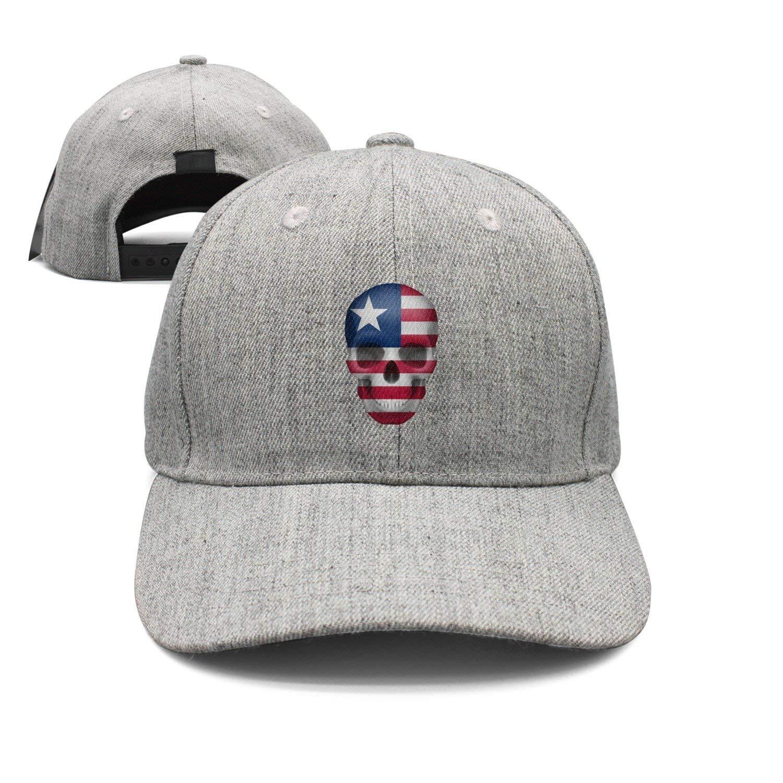 Haydner Moosers Liberian Skull Flag Unisex Baseball Hats Adjustable Trucker Cap