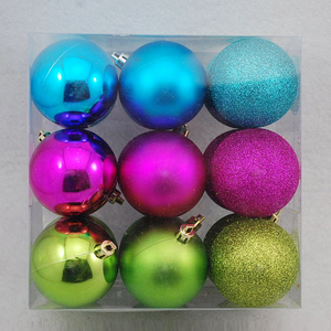 Painting toys coloring wholesale large plastic ball christmas ornaments