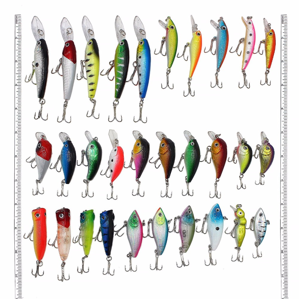 Factory price Hard plastic Minnow crank VIB Popper <strong>fishing</strong> bait 30pcs/set <strong>fishing</strong> lure set
