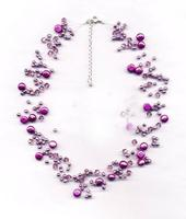 fashion ark purple crystal necklace