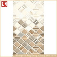 Lagos Checkered 25X40 Mosaic Mural Wall Tile For Bathroom